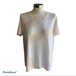 BURBERRY BRIT Pink and White shortsleeved Top